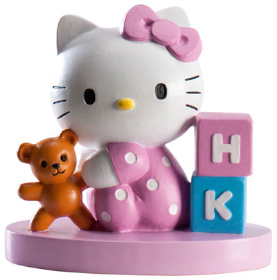 Figura pastel Hello Kitty con osito