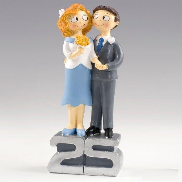 Figura de novios bodas de plata, 25 aniversario